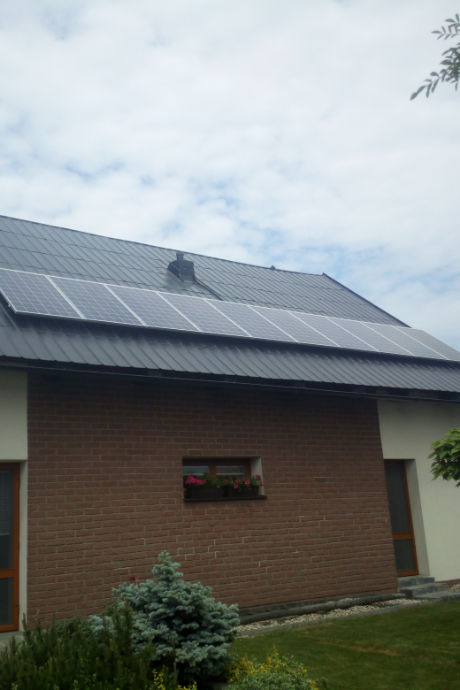 Fotovoltaická elektrárna na střeše rodinného domu