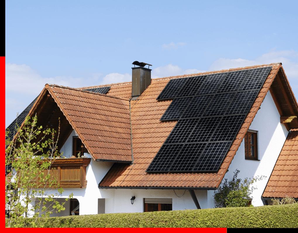 Solární elektrárna o výkonu 2,6 kWh, ohřev teplé vody